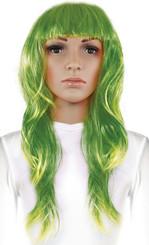 Paruka dlouhé vlasy, zelená