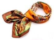 Saténový šátek 90x90 cm s potiskem