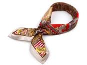 Hedvábný šátek 53x53 cm s potiskem