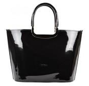 Luxusní kabelka S7 černá lakovaná