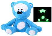 Medvídek svítící 30 cm Modrý