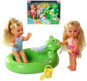 Evi Love 2 panenky Evičky Set s bazénem 12 cm
