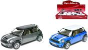 Auto Mini Cooper S 12cm KOV 2 barvy Na baterie SVĚTLO + ZVUK