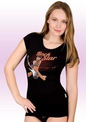 Dámské tričko s obrázkem zpěvačky