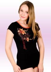 Dámské tričko s obrázkem květiny