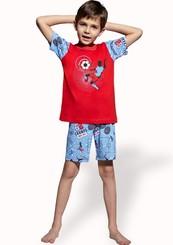Dětské pyžamo s obrázkem fotbalisty a kraťasy
