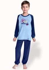 Dětské froté pyžamo s nápisem Step boys 12