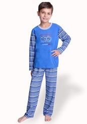 Dětské froté pyžamo se vzorem proužku