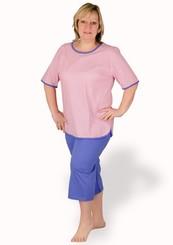 Dámské capri pyžamo nadměrné velikosti Boženka