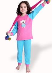 Dětské froté pyžamo s obrázkem medvěda