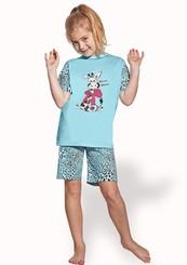 Dětské pyžamo s obrázkem kravičky a kraťasy
