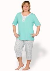Dámské capri pyžamo nadměrné velikosti Cecylia