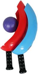 Hra s míčkem Set Chytání míčků do košíku PLAST