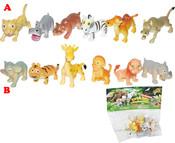 Zvířata divoká veselá 6 ks v sáčku