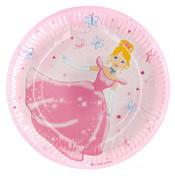 Talíře papírové s princeznou 6 ks