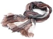 Mačkaný šátek károvaný 90x195 cm