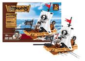 Stavebnice piráti loď, 100 dílů