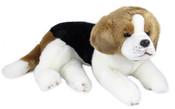 Plyšový pes Bígl 38cm, ležící