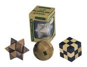 Hlavolam dřevěný mini, 6 druhů