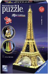 RAVENSBURGER Puzzle 3D Eiffelova věž Noční edice 216 dílků