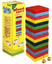 Hra věž Jenga dřevo barevná