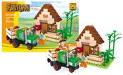 Stavebnice farma a traktor 210 dílů