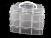 Plastový zásobník 130x150x160mm na korálky patrový s rukojetí