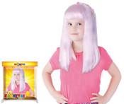 Paruka růžová dětská s ozdobou