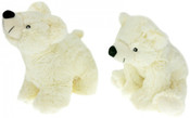 PLYŠ Medvěd lední 27 cm 2 druhy Bílý