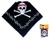 Šátek pirátský 55x55cm s potiskem