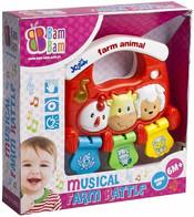 Chrastitko Zvířátka hudební Zvuk BABY