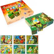 DŘEVO Kostky (kubus) Pohádky 20 ks v krabičce