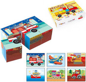 DŘEVO Kostky (kubus) Dopravní dřevo 6 ks v krabičce