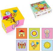 DŘEVO Kostky (kubus) Obrázky 4 ks v krabičce BABY