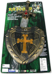 Štít s mečem Set Na kartě PLAST