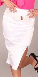 Bílá dámská sukně in-su10wh