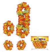 Sada hawai s květy 4 ks, 2 druhy