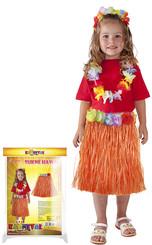 Sukně hawai dětská 50cm oranžová