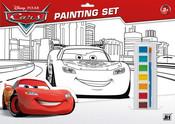 Omalovánky set s barvami A3 Auta (Cars)