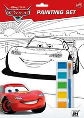 Omalovánky set s barvami A4 Auta (Cars)