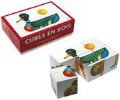 DŘEVO Kostky (kubus) 6 ks v krabičce BABY