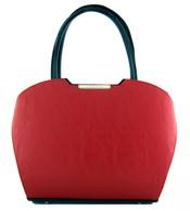 Červená matná kabelka do ruky S467