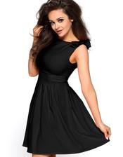 Černé večerní šaty KM112