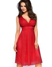 Elegantní červené šaty KM117-3
