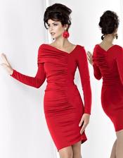Červené koktejlové šaty KM05