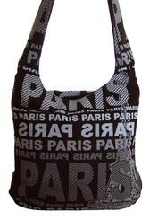 Moderní crossbody taška PARIS s šedým potiskem