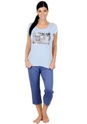 Dámské pyžamo s capri kalhotami Kolo