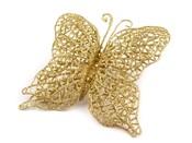 Dekorace motýl 11x12 cm