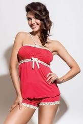 Letní dámské pyžamo Iness SET coral
