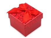 Krabička na šperky 5x5 cm s mašlí (1 ks)